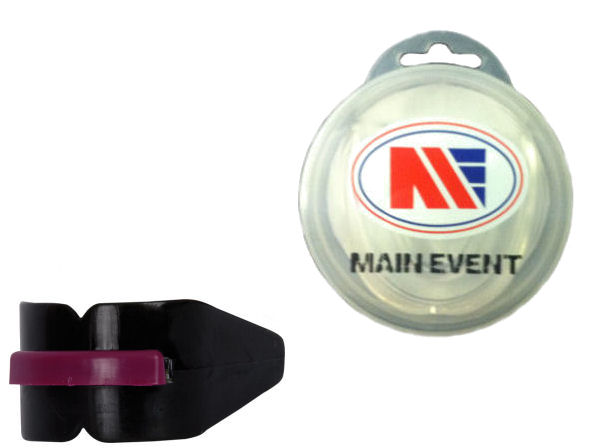 Main Event Boxing Double Gumshield Mouthguard - Black with Case